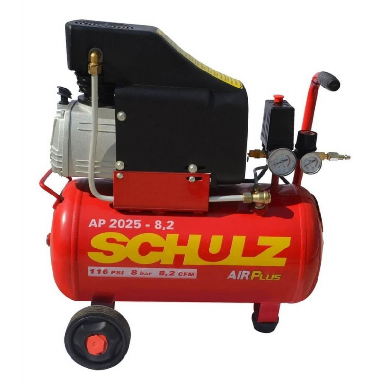 Compresor AP 2025 2HP AIRPLUS 220V 24L con Ruedas Schulz 9300278-0