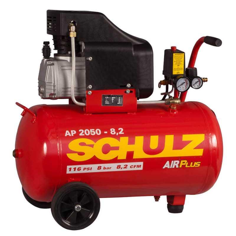 Compresor AP 2025 2HP AIRPLUS 220V 50L con Ruedas Schulz 9300281-0