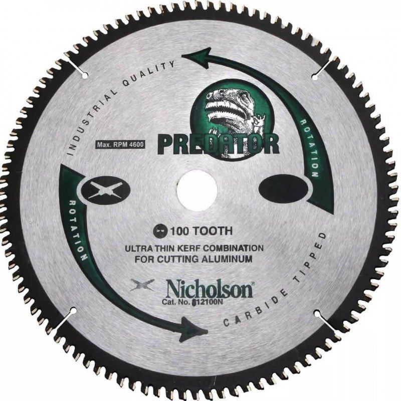 "Disco de Corte Aluminio 12"" 100 Dientes Nicholson 812100N"
