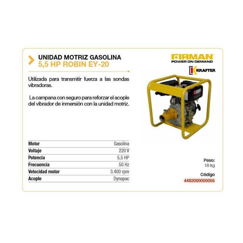 Unidad Motriz a Gasolina 5.5HP Krafter 4482000000055