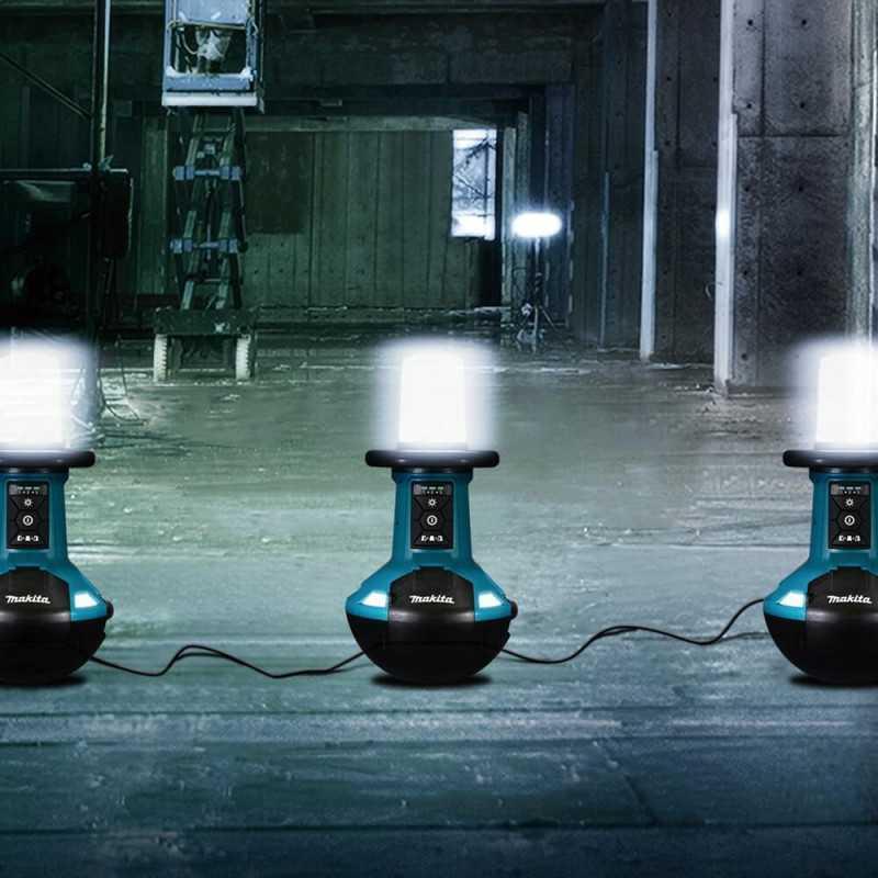 Lámpara Led Vertical 18V LXT14.4V AC IP54 (con cable/inalambrica) Sin batería Makita DML810
