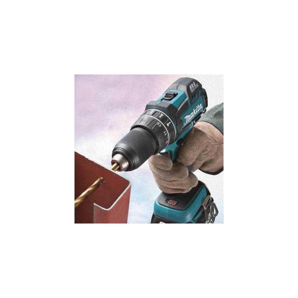 """Taladro Atornillador Percutor Inalámbrico 13 mm (1/2"""") 18V + Bateria 3.0 Ah y cargador Makita DHP480Z + 199994-5"""