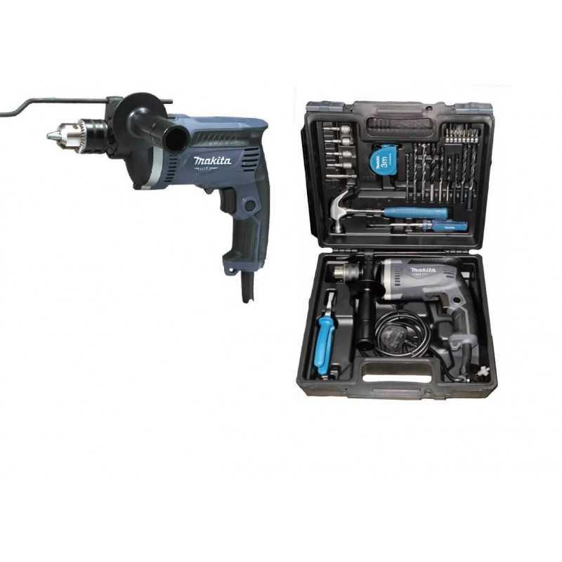 Taladro Percutor 16mm 710W + Accesorios y Maleta Makita MT M8100KX2G
