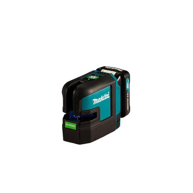 Nivel Laser Inalámbrico Lineas verdes - Lineas Cruzadas 12V Sin Bateria ni Cargador Makita SK105GDZ