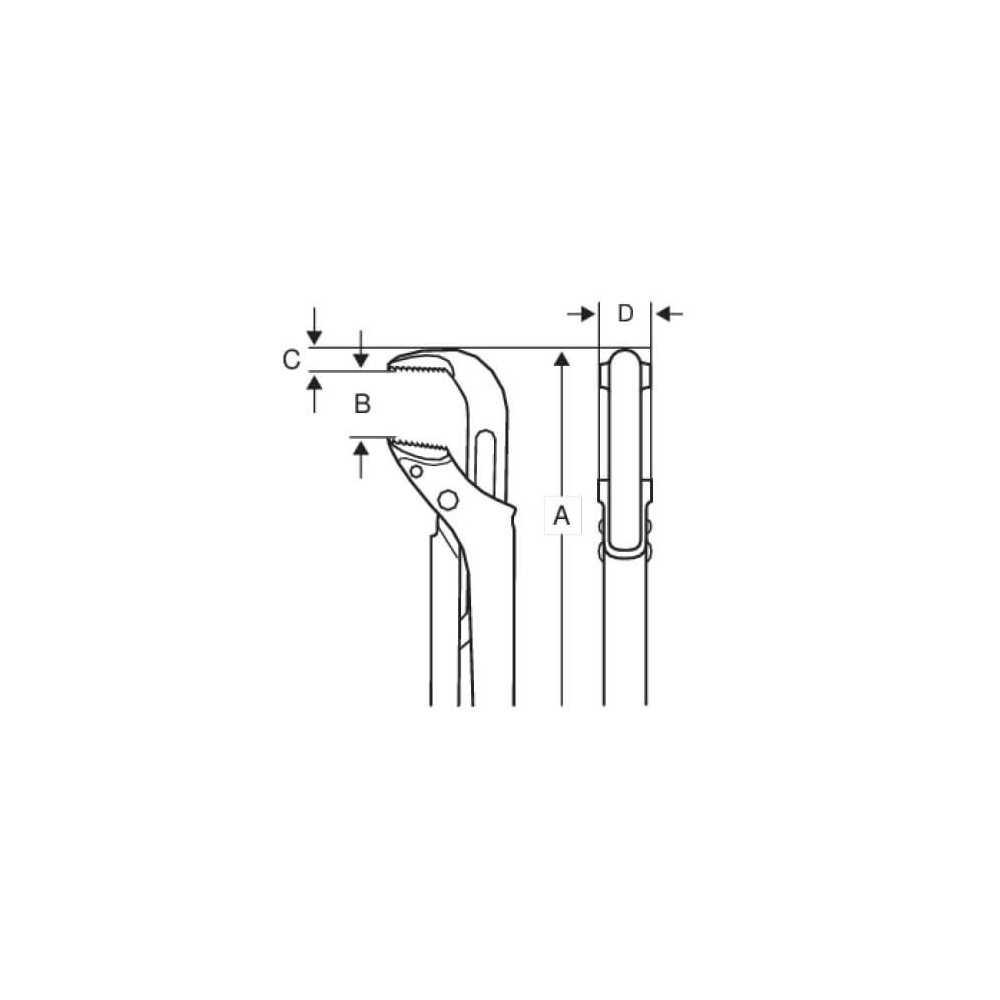 Llave de Tubo de 90° 32 cm Bahco 141T