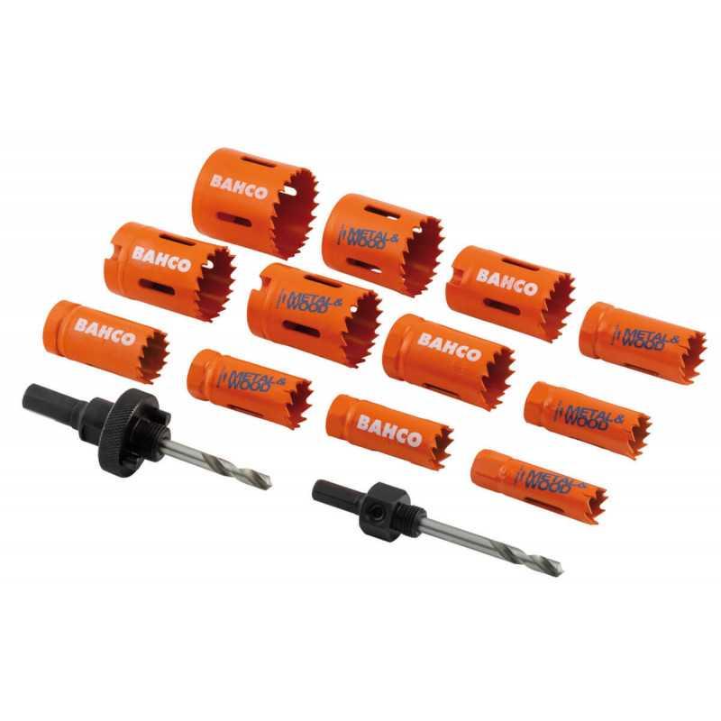 Set Sierras Copa Bi-metal Sandflex® 14 Pzs 16 a 44mm Bahco 3834-PROMO-122