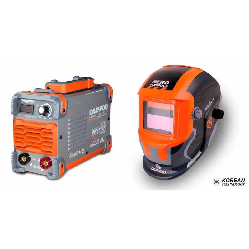 Soldadora Inverter 160A DW200LMMA + Mascara DALYG600B Daewoo 7799034119546