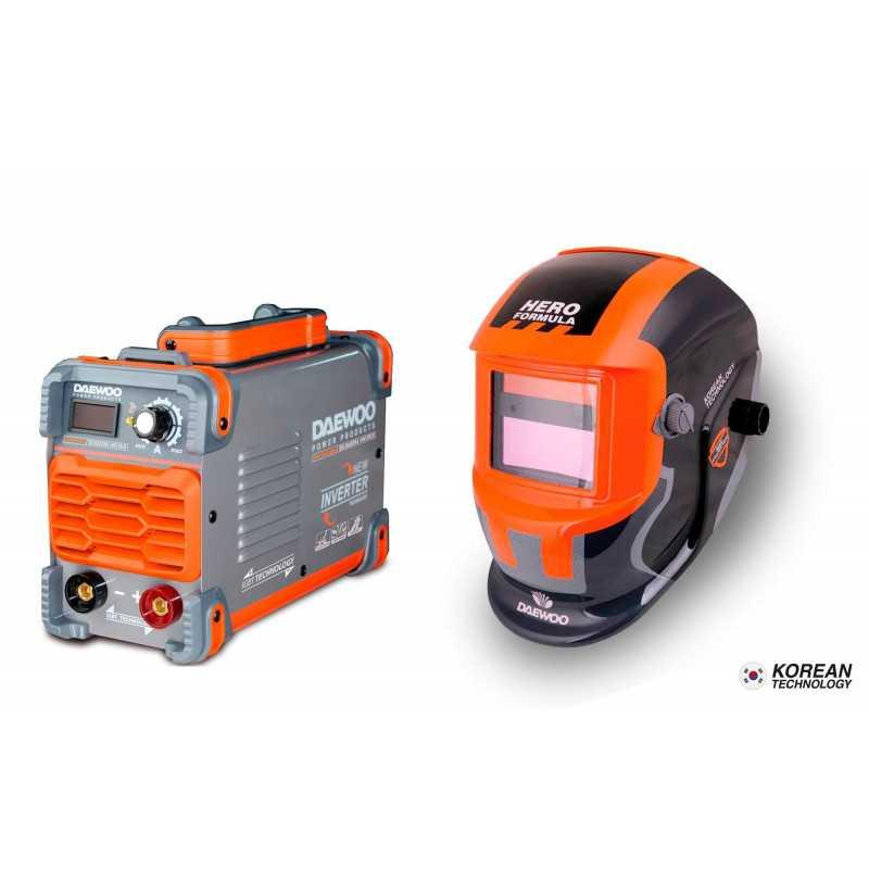 Soldadora Inverter 200A DW250XLMMA + Mascara DALYG600B Daewoo 7799034118037