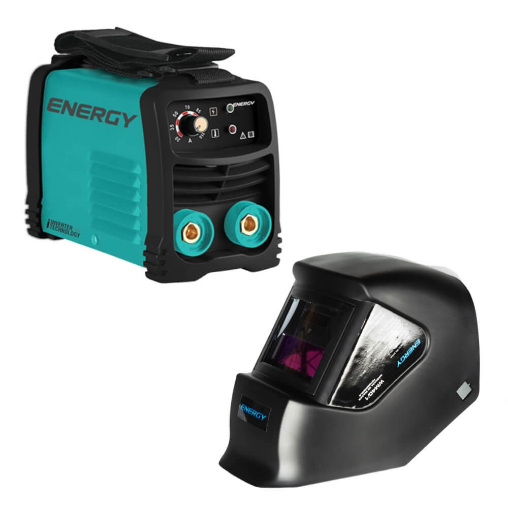 Soldadora Inverter Arco Manual 140 amp + mascara de soldar fotosensible l1 Energy MI-ENE-053446