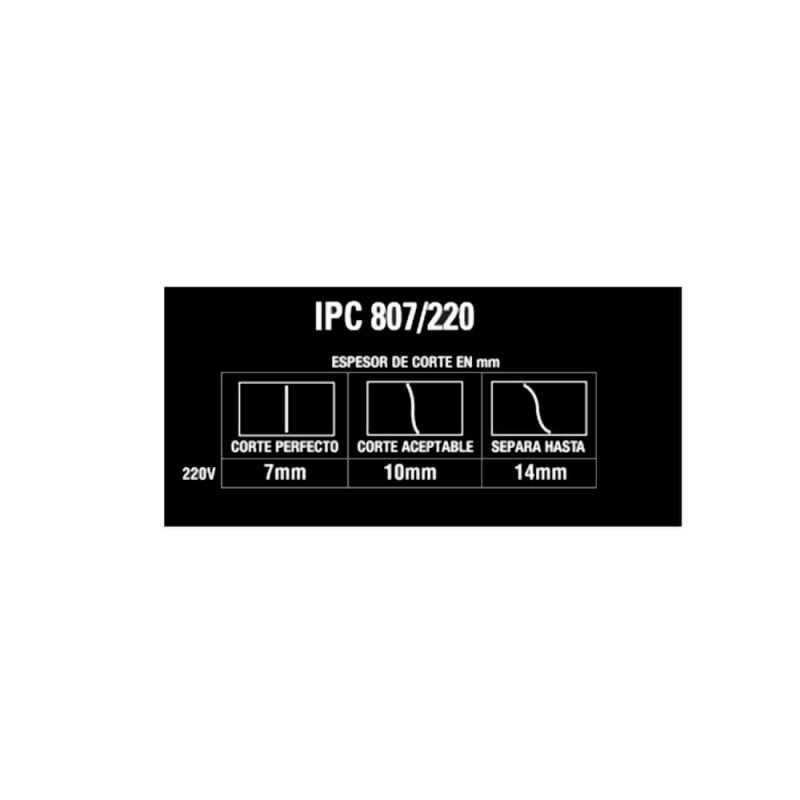 Cortadora de Plasma Con compresor 20-40A IPC 807/220 Gladiator MI-GLA-051345