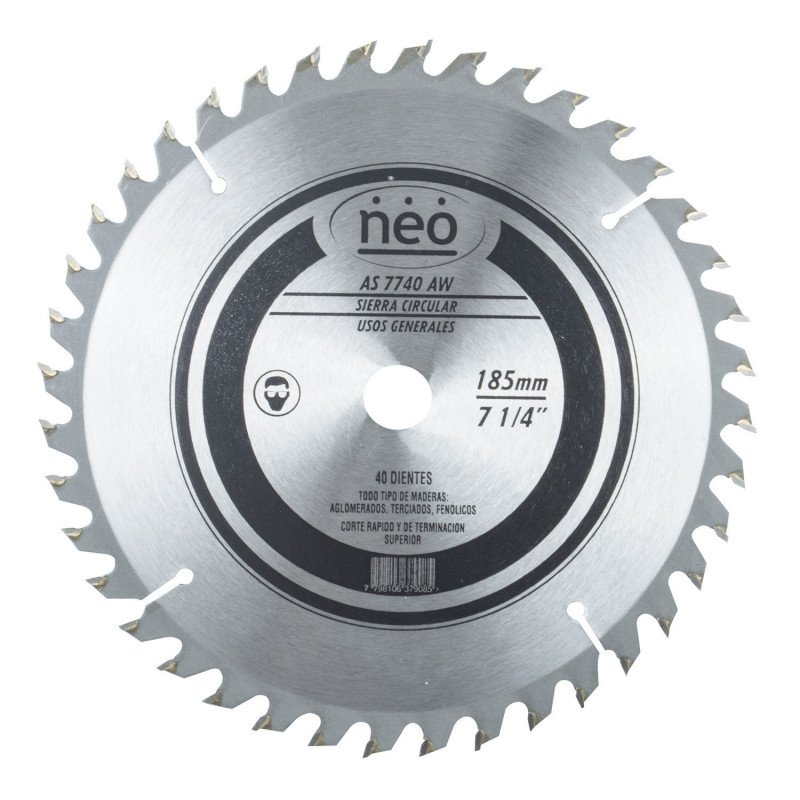 "Disco Sierra 7 1/4"" 40 Dientes AS 7740 AW Neo MI-NEO-044483"
