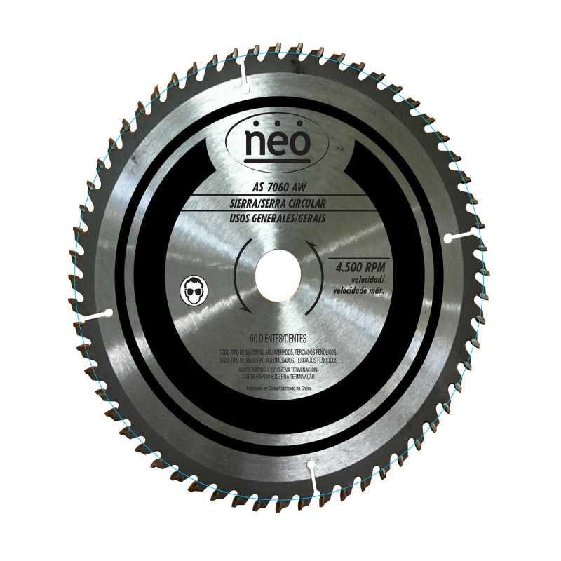 """Disco Sierra 10"""" 60 Dientes AS 7060 AW Neo MI-NEO-044488"""