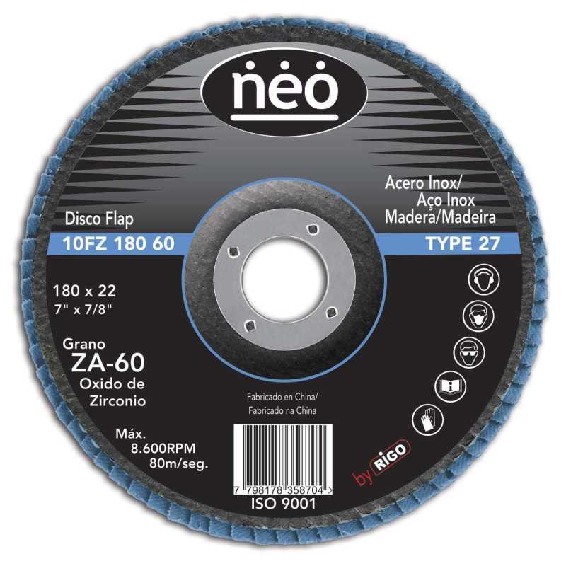 "Disco Flap 7"" Acero Inoxidable GR 60 10FZ18060 Neo MI-NEO-046236"