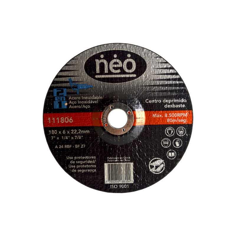 "Disco de Corte Debaste 7"" x 6 x 22.2mm Metal 111806 Neo MI-NEO-051047"