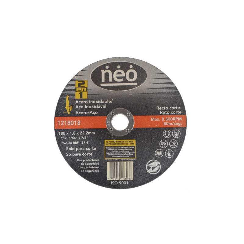 "Disco de Corte 7"" x 1.8mm x 22.2mm Acero Inox 1218018 Neo MI-NEO-051183"