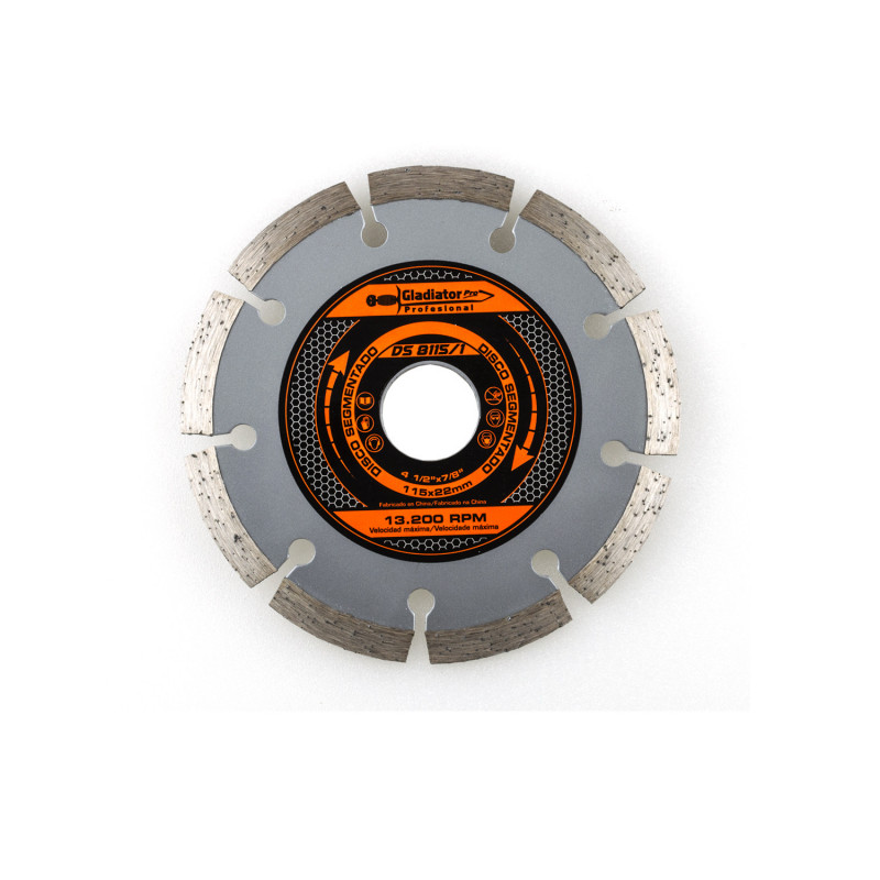 "Disco Diamantado Segmentado 4 1/2"" DS8115/1 Gladiator MI-GLA-049674"