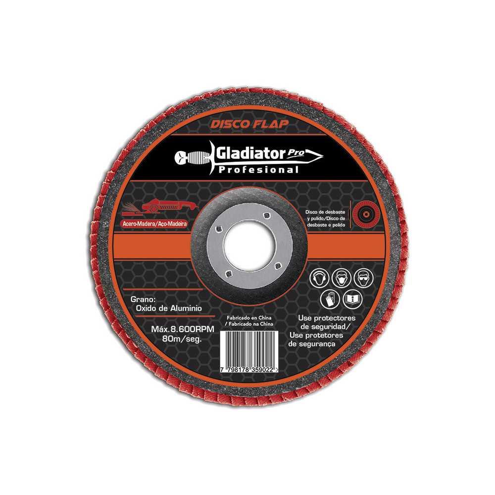 """Disco Flap 4 1/2"""" Acero y Madera GR 60 DFA 811560 Gladiator MI-GLA-049989"""