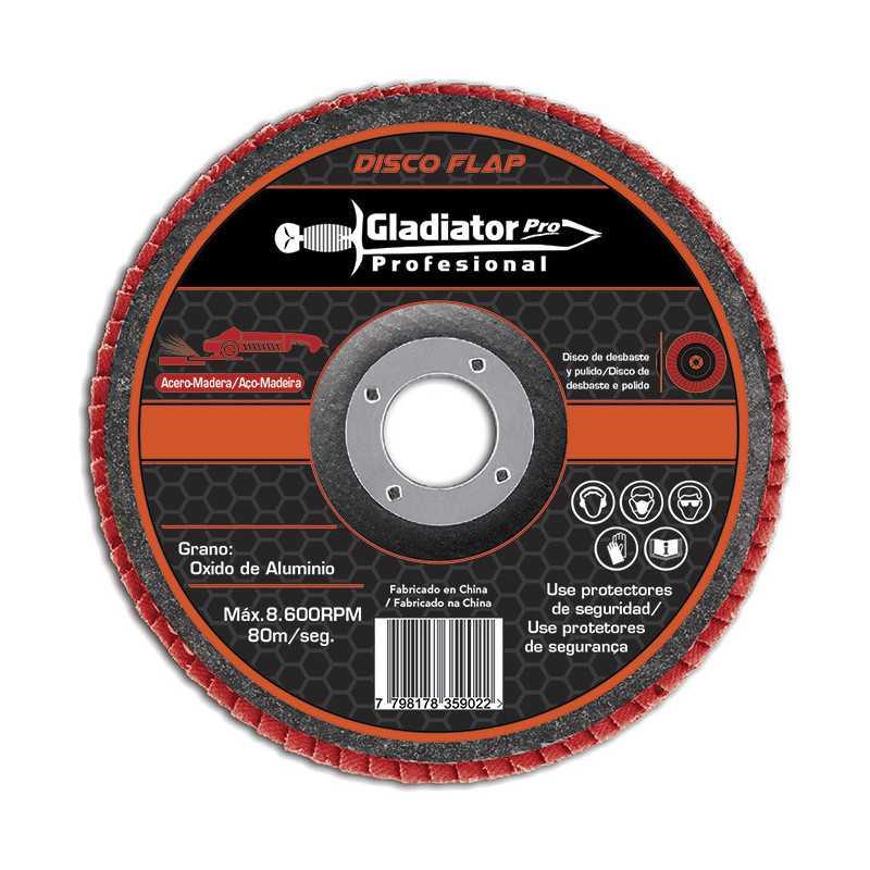 """Disco Flap 4 1/2"""" Acero y Madera GR120 DFA 8115120 Gladiator MI-GLA-049991"""