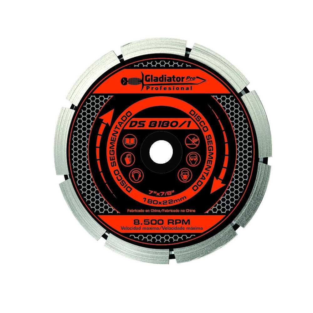 "Disco Diamantado Segmentado 7"" DS8180/1 Gladiator MI-GLA-049673"