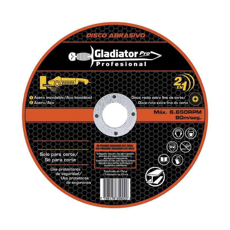 "Disco de Corte 14""x3.2mm Acero Inoxidable 835032 Gladiator MI-GLA-049987"