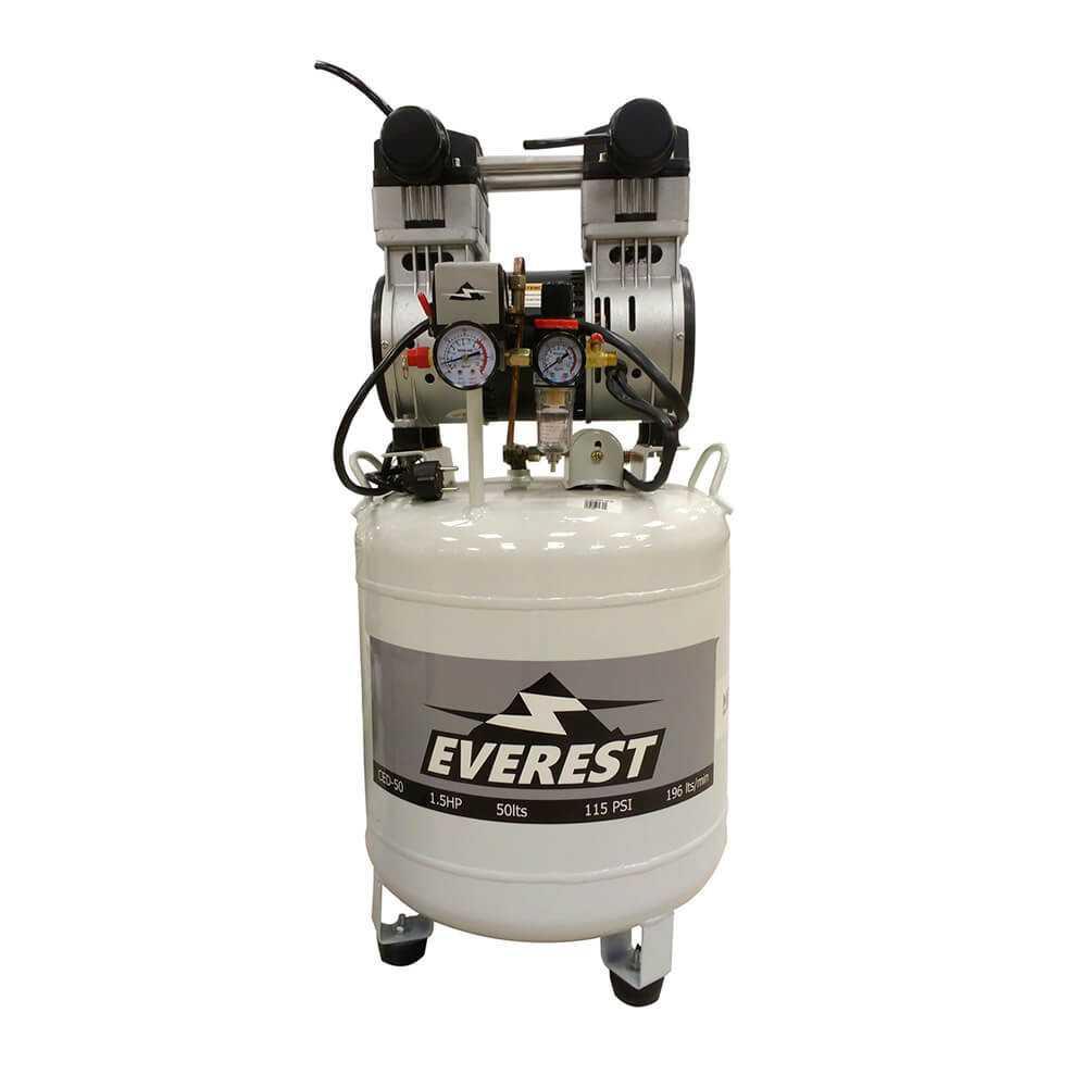 Compresor Dental libre de aceite 1.5hp 50 litros. CED-50 Everest MI-EVE-050594