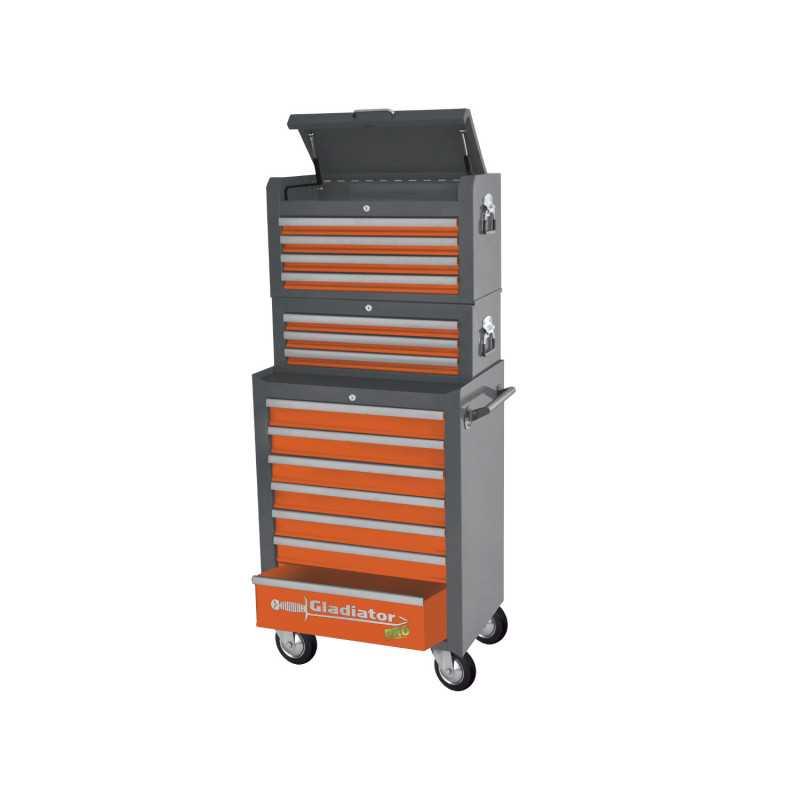 Carro Porta herramientas - 3 gabinetes de 3 - 4 y 7 cajones GH 8003 Gladiator MI-GLA-050969