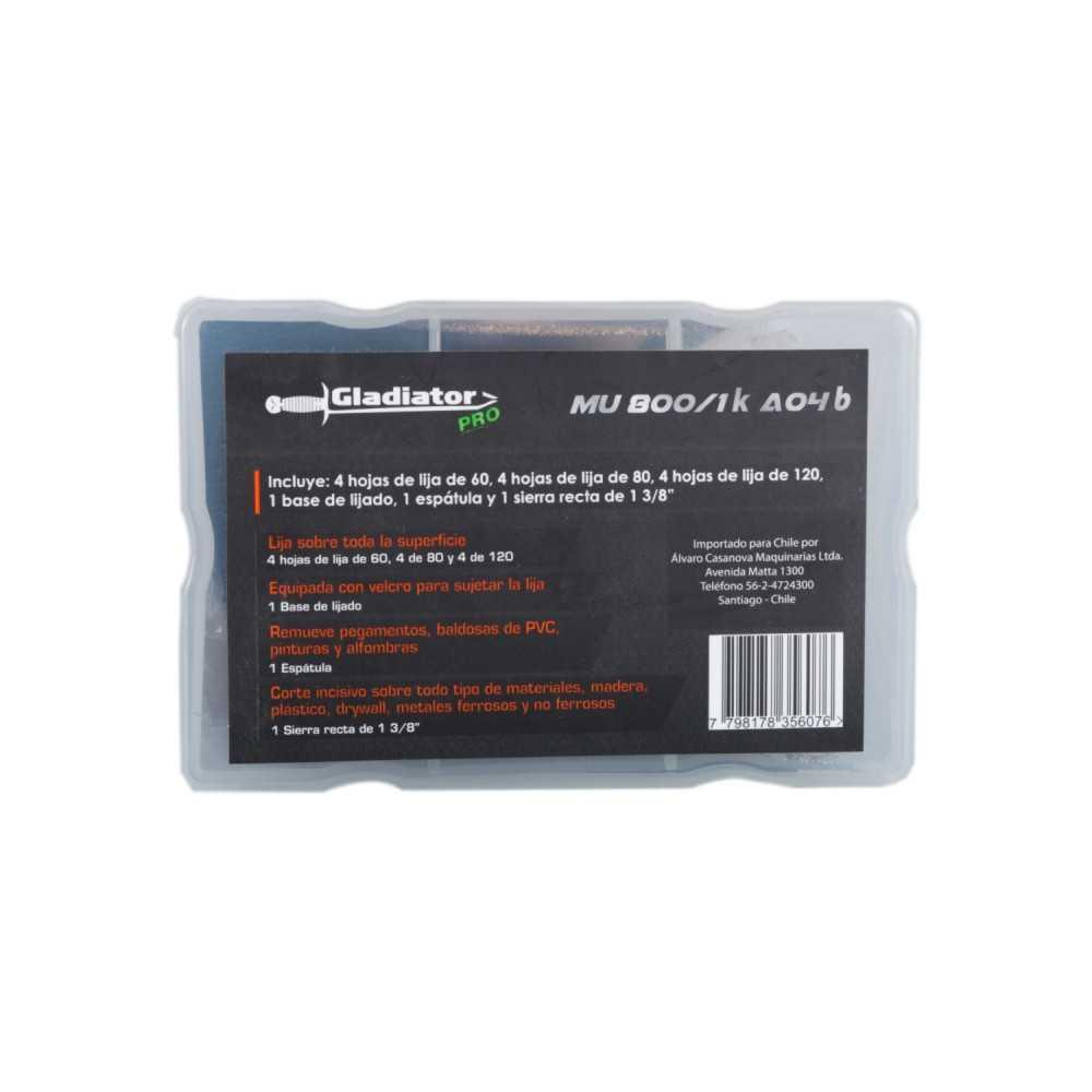 Kit Accesorios para Multiherramienta KMU 800 Gladiator MI-GLA-051733