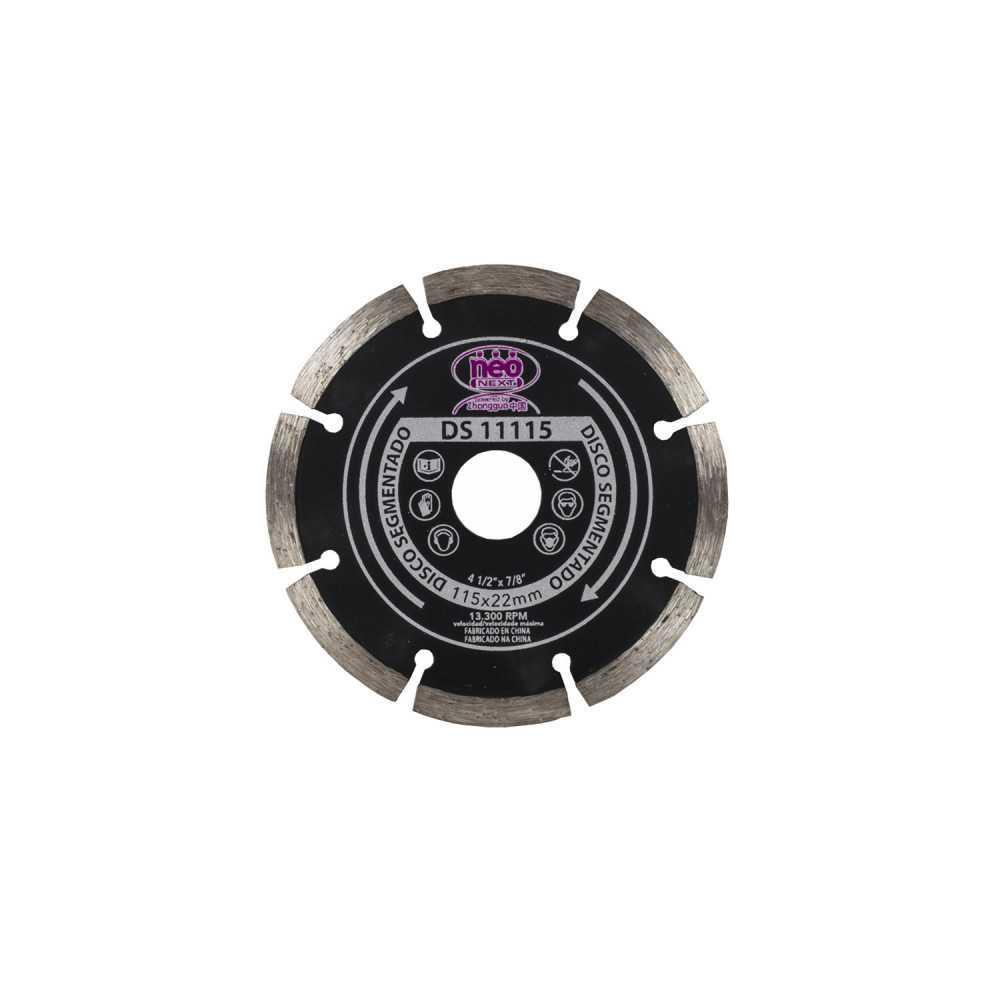 "Disco Diamantado segmentado 4-1/2"" (115mm) DS 11115 Neo MI-NEO-048780"