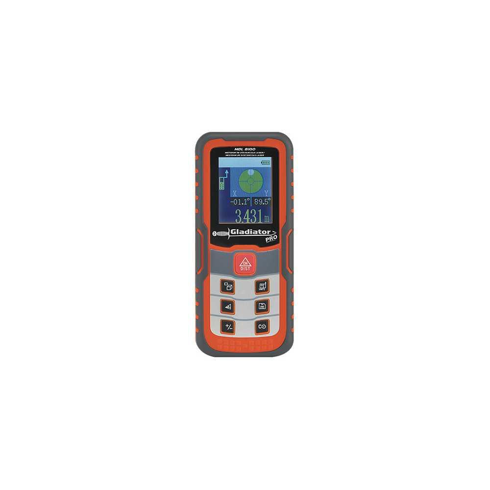 Medidor de distancia Láser 0.05-100 Metros MDL 8100 Gladiator MI-GLA-050433