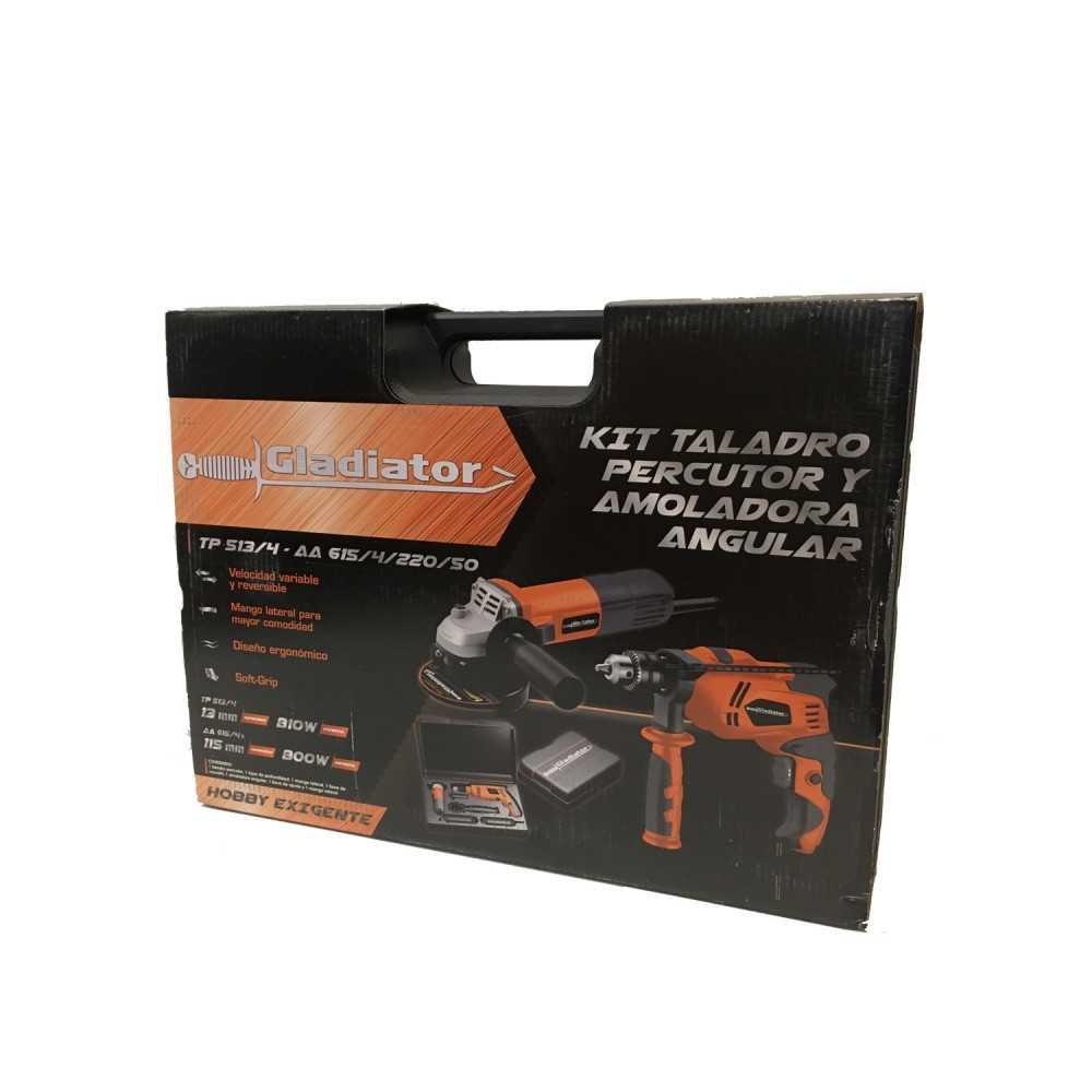 "Taladro Percutor 13MM TP 513/4 + Esmeril Angular 4 1/2"" AA615/4K Gladiator MI-GLA-050734"