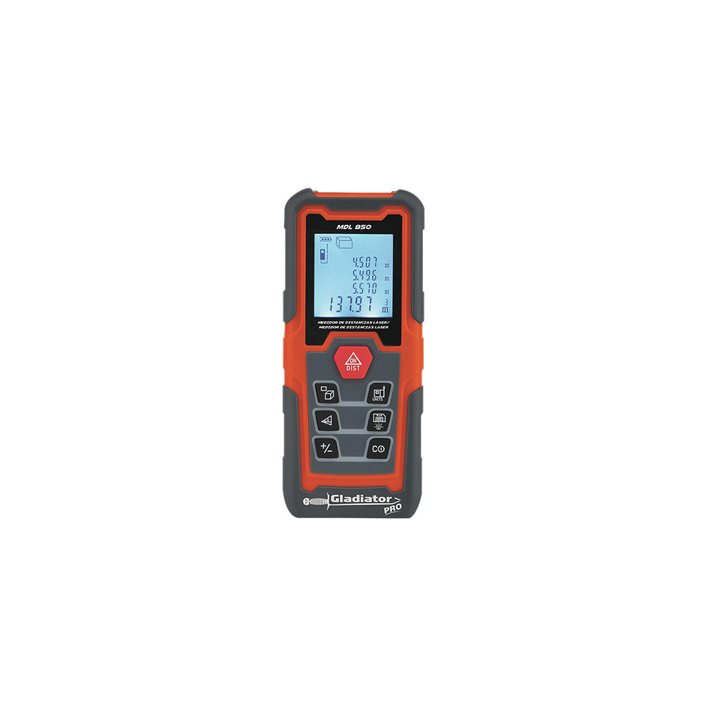 Medidor de distancia Láser 0.15-50 Metros MDL 850 Gladiator MI-GLA-050432