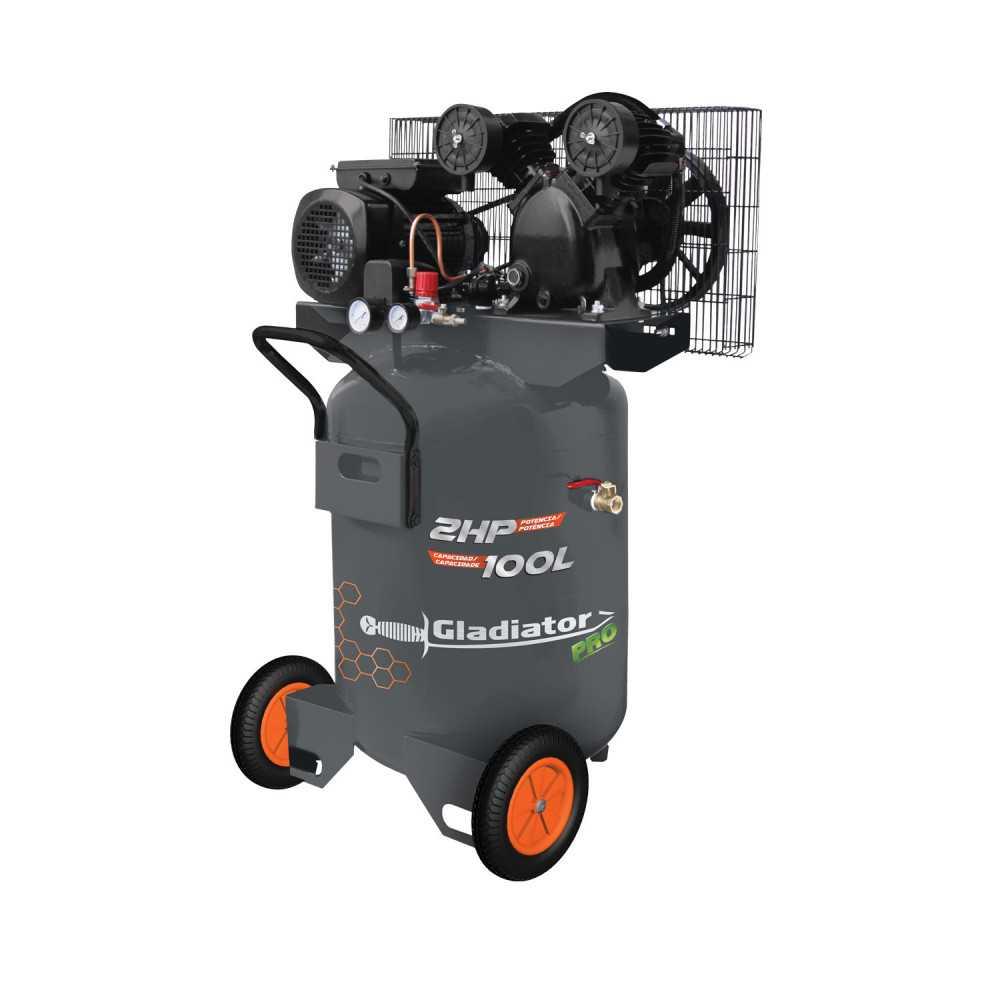 Compresor de aire Vertical 2HP 100L CE 8100/220MV Gladiator MI-GLA-051053