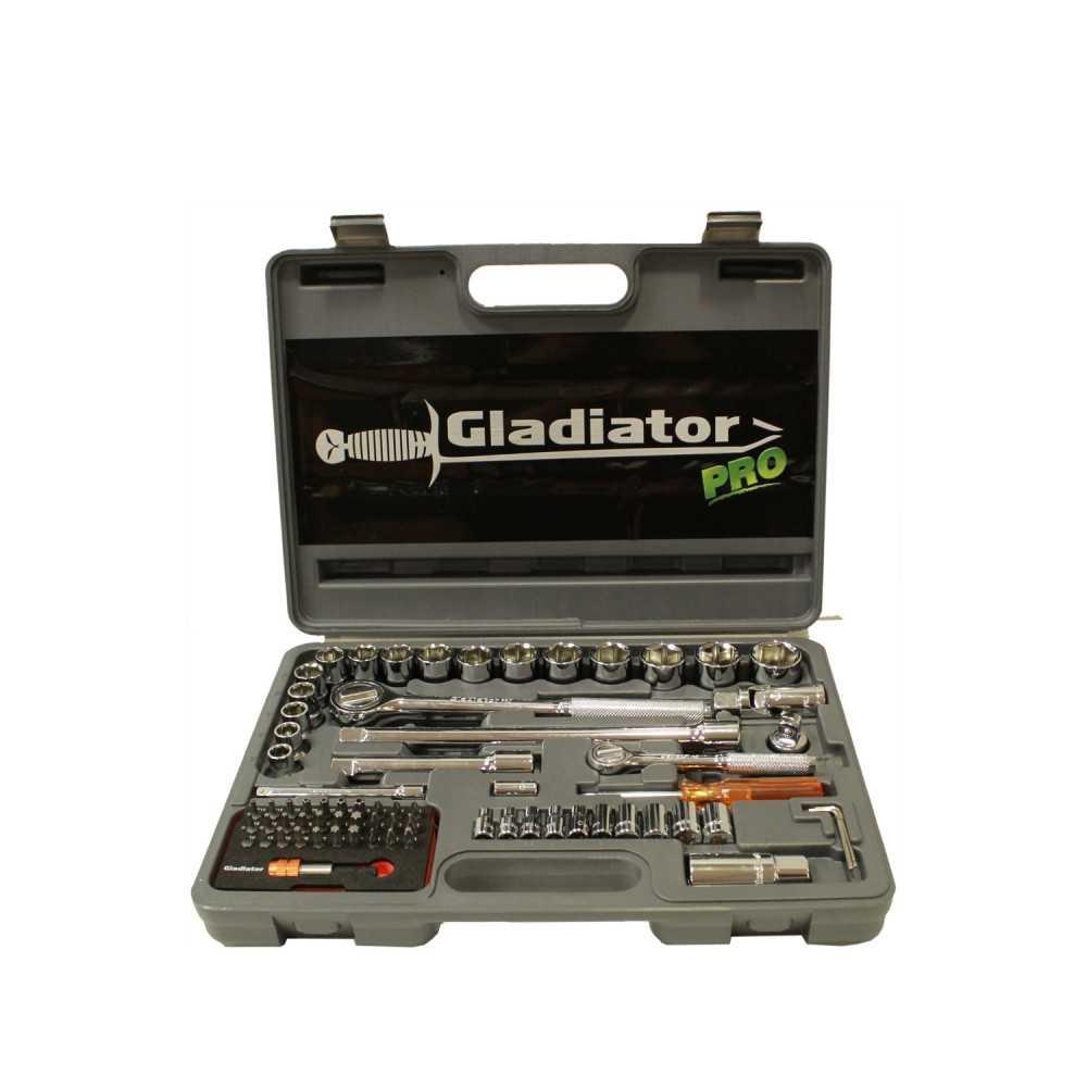 """Juego de Dados 1/2"""" y 1/4"""" 70 Piezas JT 870 K Gladiator MI-GLA-051524"""