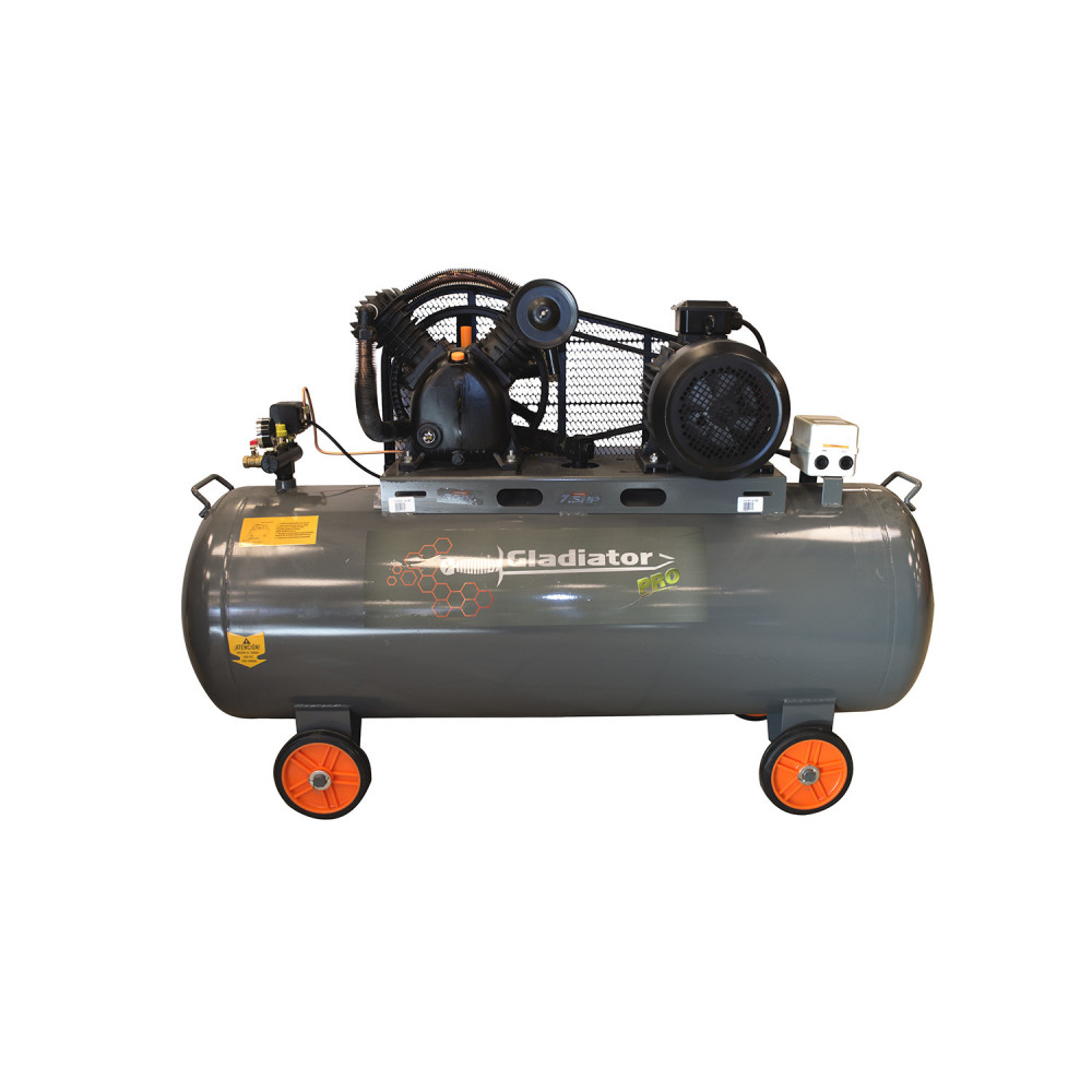 Compresor de aire Trifásico 7.5HP 300L 380V CE 8300/7.5/380T/50 Gladiator MI-GLA-051521