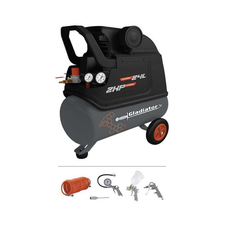Motocompresor 24 Litros 2 HP CE 624/1/220 MK Gladiator MI-GLA-052495