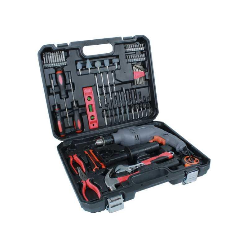 Taladro Percutor 13MM 650W + 72 Accesorios TP 413/6/220 K Gladiator MI-GLA-052950