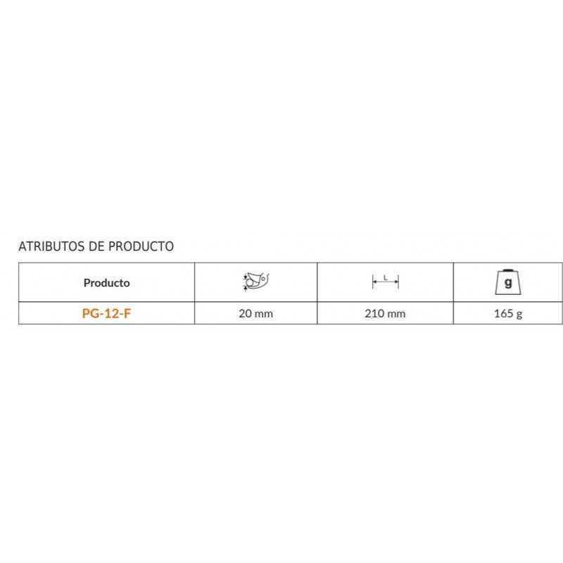 Tijera Podadora corte deslizante 20mm Bahco PG-12-F