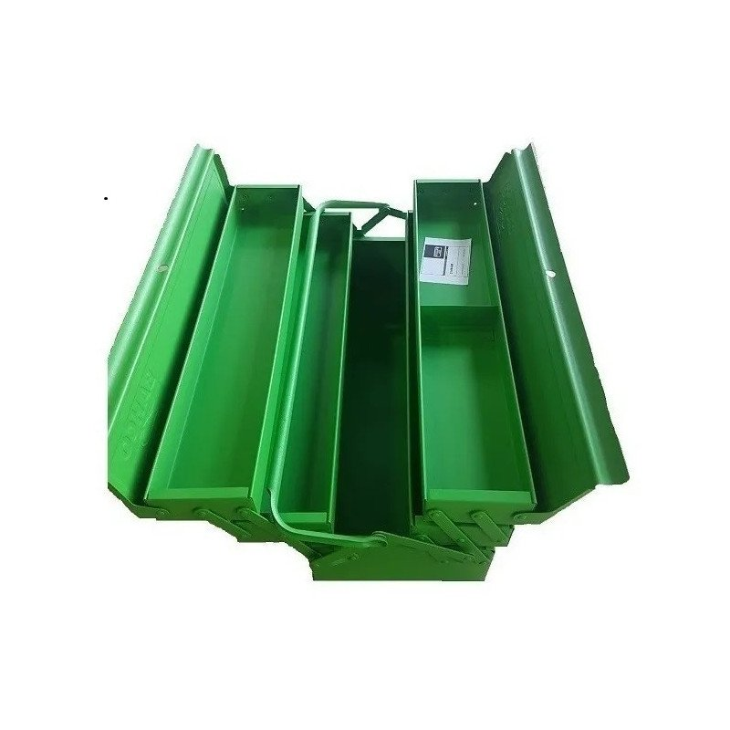 Caja de herramientas Metálica 5 compartimientos color verde Bahco 3149-GR
