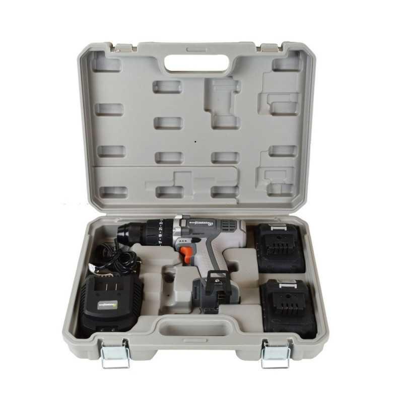 Taladro Atornillador Percutor Inalámbrico 13MM 18V + 2 Baterías 18V + Cargador TP 813/18 k2 Gladiator MI-GLA-052010