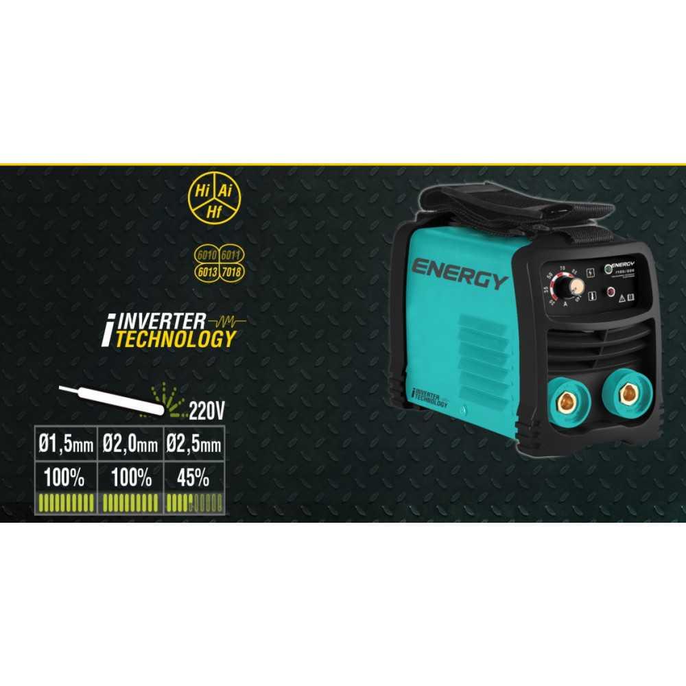 Soldadora Inverter Electrodo 100A Arco Manual I100/220 Energy MI-ENE-053130