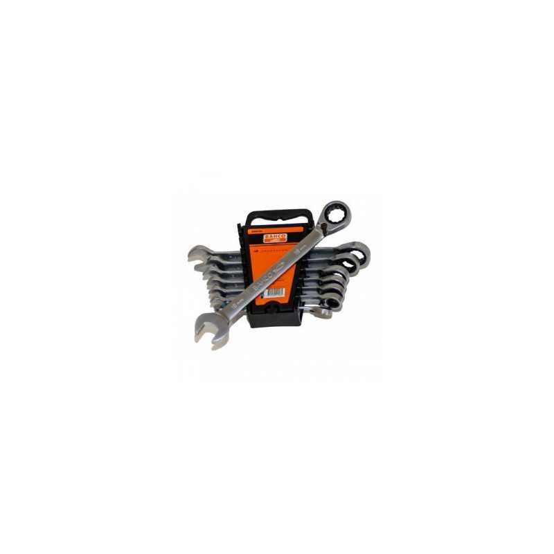 Juego de Llaves - 8 llaves combinadas con Chicharra Fija Bahco 2RM/8H