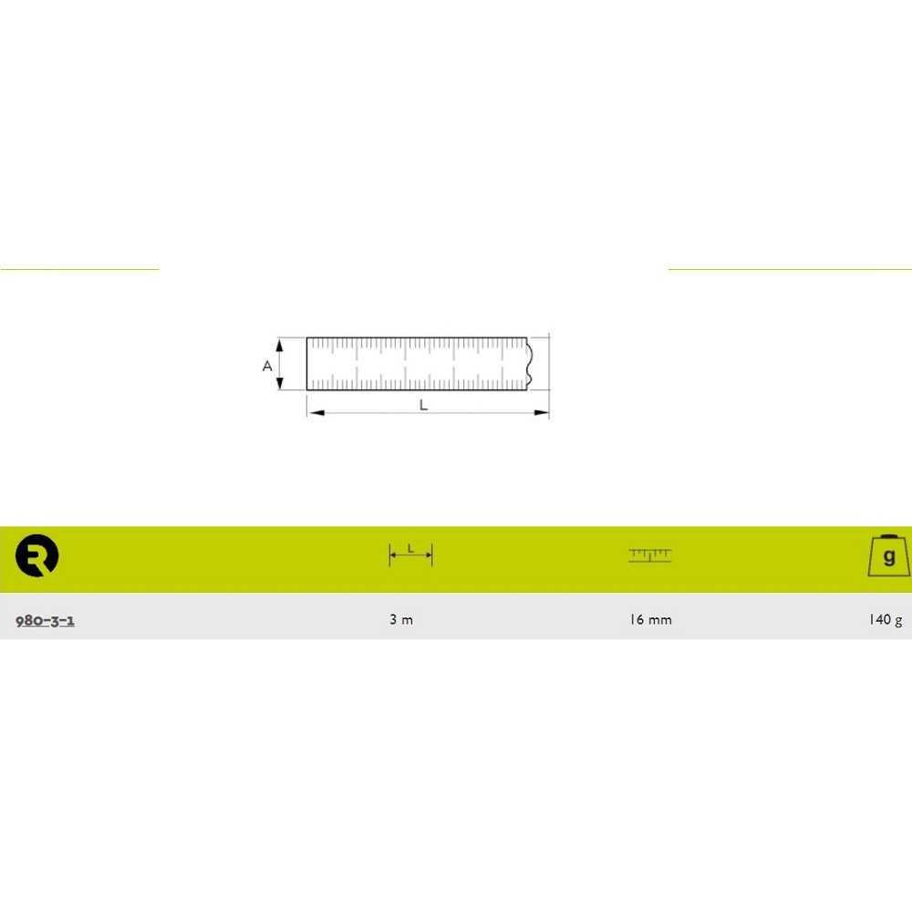 Huincha de Medir 3 M X 16MM Irimo 980-3-1