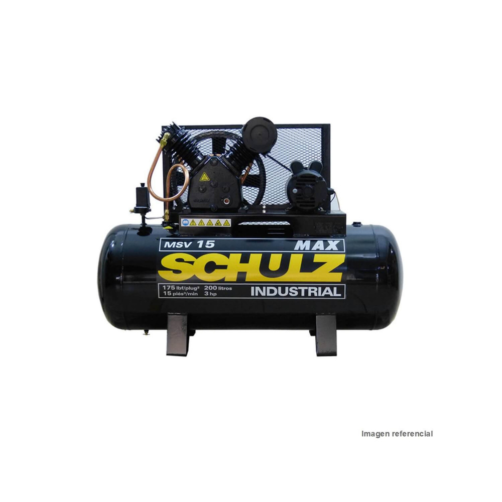 Compresor 3HP 220 Lt trifásico 380V MSV15 MAX 200932-340 Schulz MI-SCH-044334