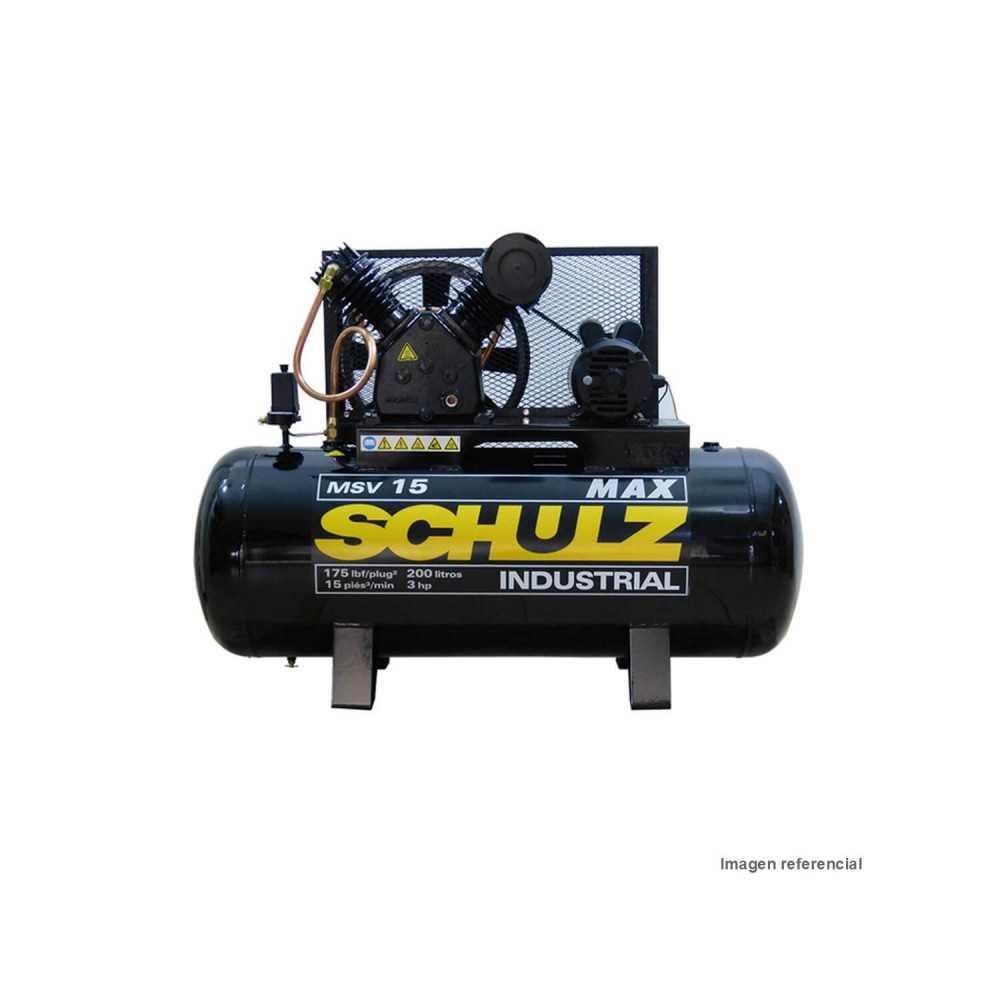 Compresor de aire 3HP 220 Lt trifásico 380V MSV15 MAX 200932-340 Schulz MI-SCH-044334