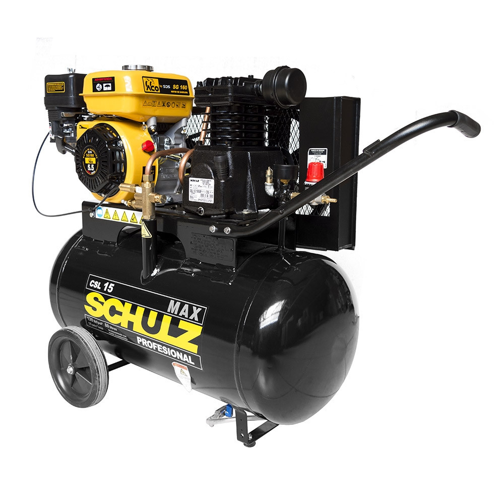 Compresor autónomo bencinero 5.5HP CSL15/80. Schulz MI-SCH-050694