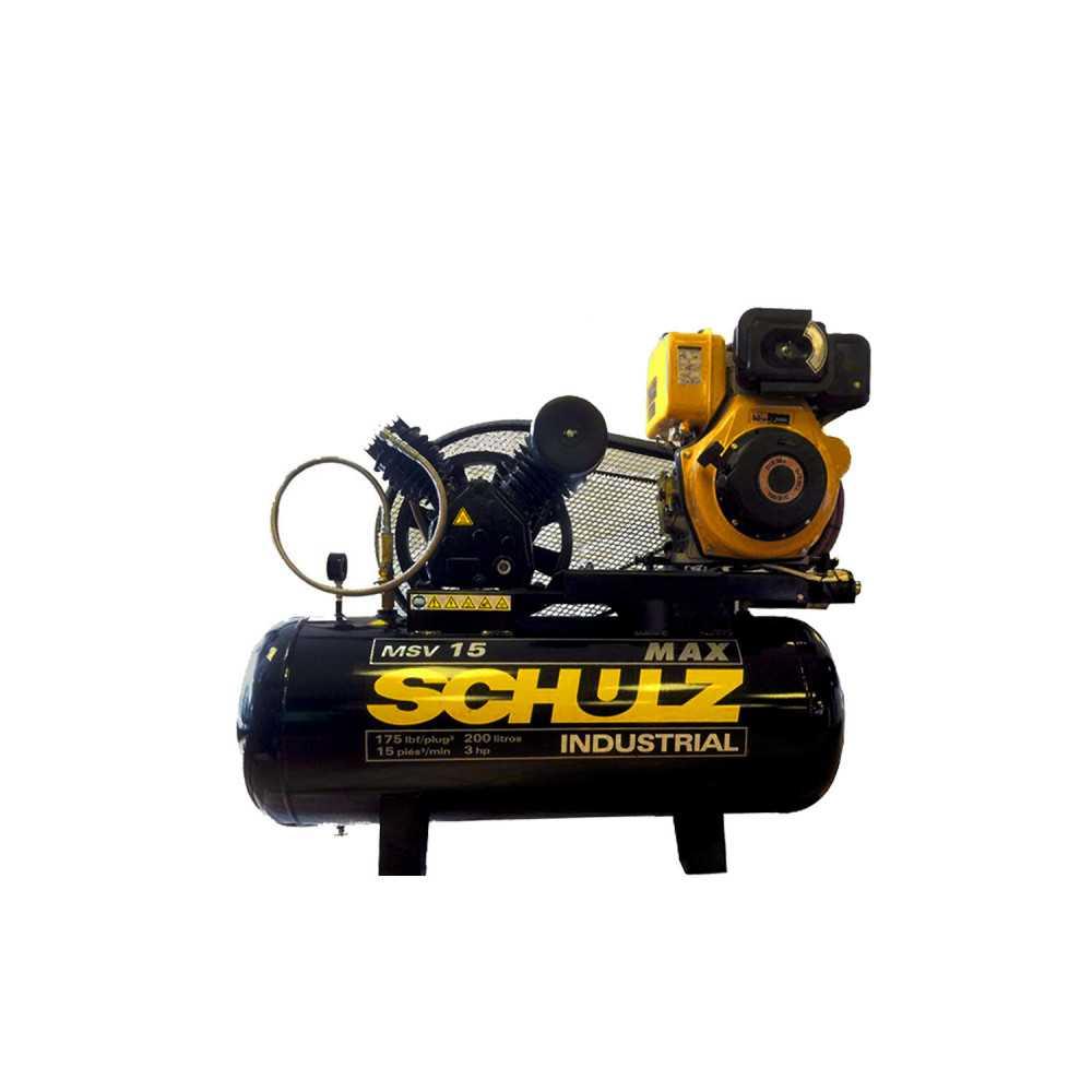 Compresor autónomo diesel, 9,8 HP 200 Lts MSV15MAX Schulz MN-SCH-45718