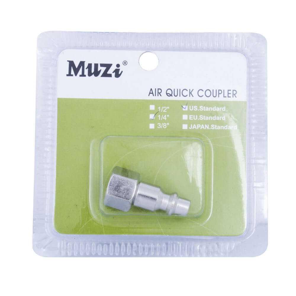 "Acople Machito Hembra 1/4"" UPF20-1/4 Muzi MI-MUZ-044104"