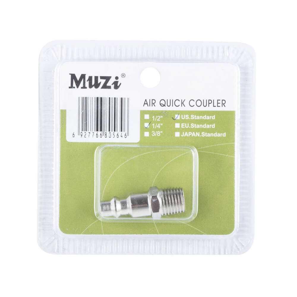 "Acople Machito Macho 1/4"" UPM20-1/4 Muzi MI-MUZ-044106"