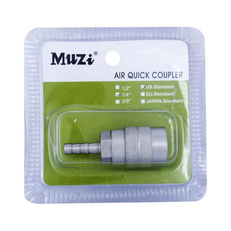 "Acople Rápido Hembra 1/4"" Para manguera USH20 Muzi MI-MUZ-044108"