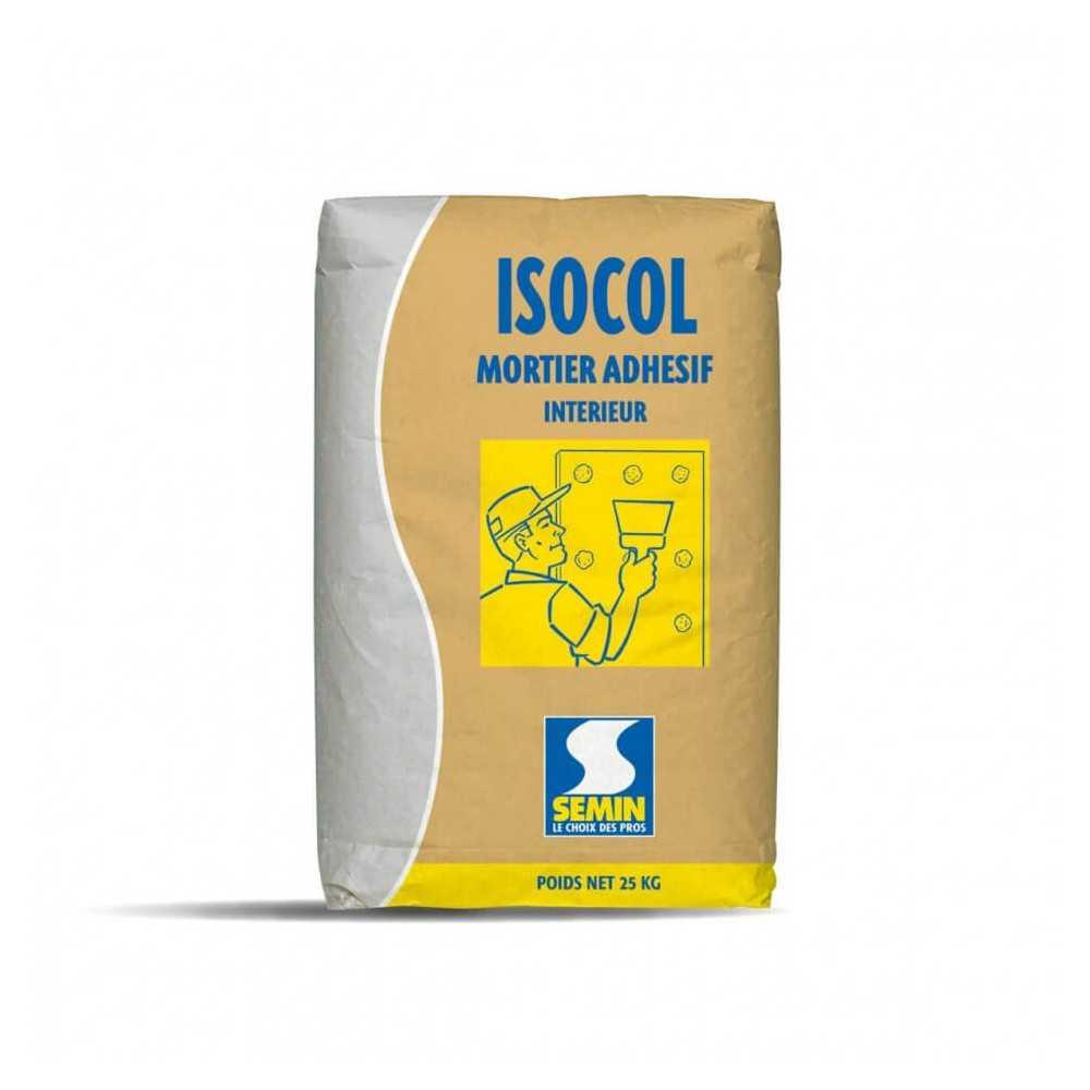 Mortero para pegar placas ISOCOL MORTIER 25 KG Semin A02302
